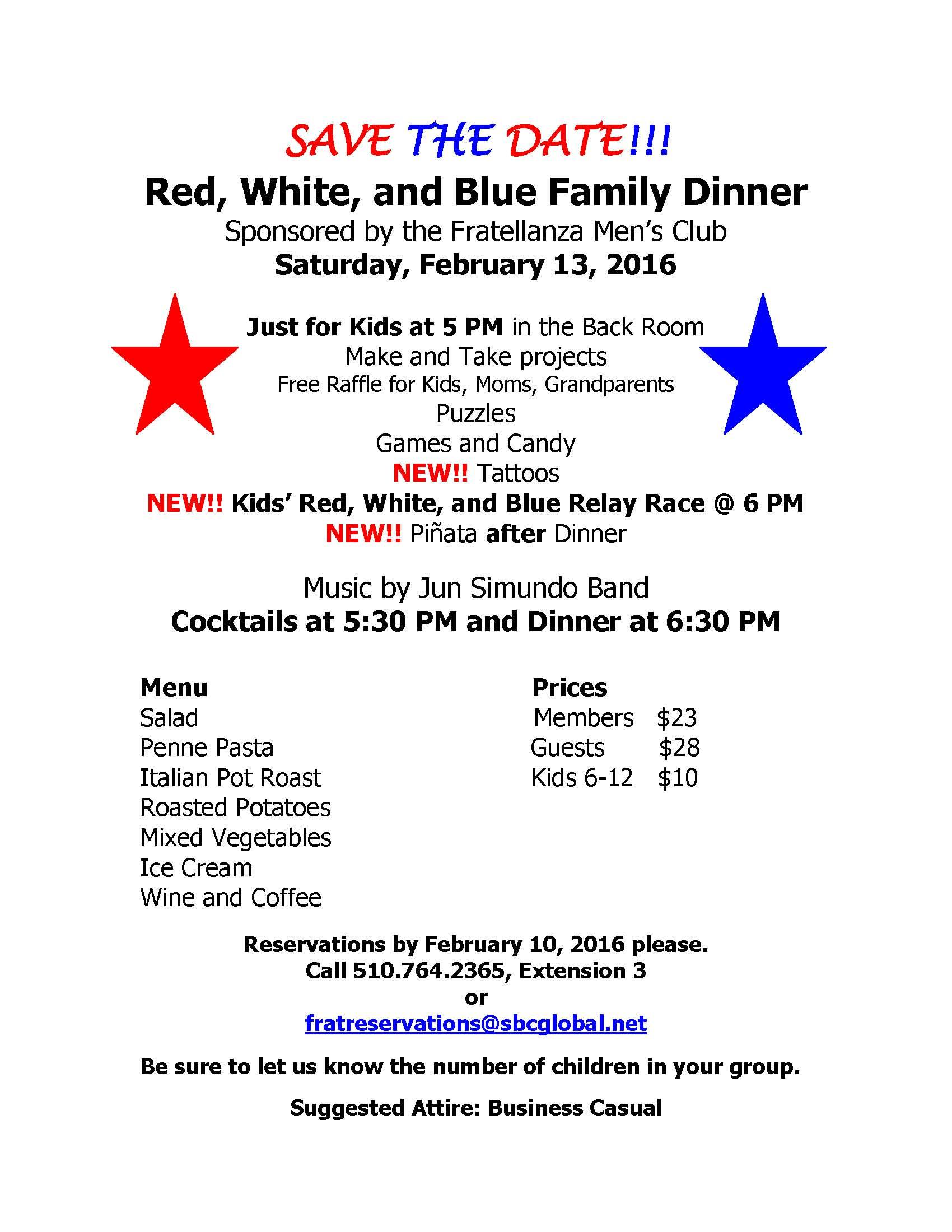 February 2016 Family Dinner
